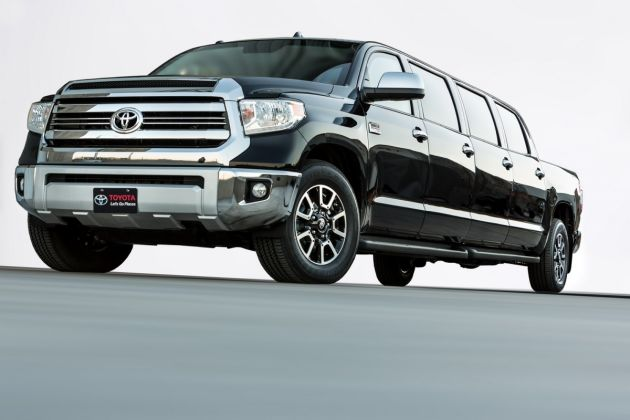 Toyota Tundrasine Concept News: Toyota Unveils 8 Door Limo Style Concept  Vehicle Based On The Tundra Pickup Truck
