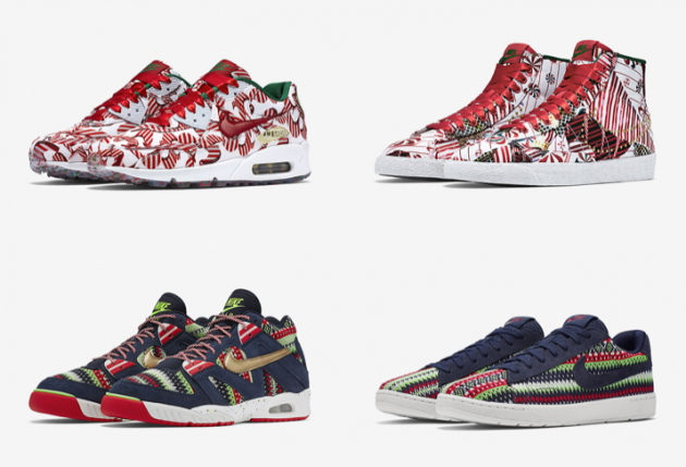 Christmas Sneakers.Nike 2015 Christmas Pack Offers Four Extremely Cool