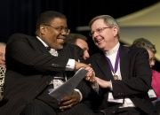 the-rev-daryl-coleman-pan-methodist-commission-left-greets-the-rev-george-freeman-world-methodist-council