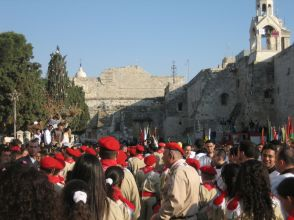 palestinian-christian-scouts-visiting-the-nativity-church-in-bethlehem