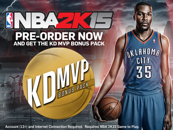 209fe6cecfe3 (Photo  2K Sports Official Website)The League s MVP Kevin Durant on the  cover of NBA 2K15.