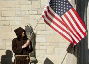 franciscan-waving-flag
